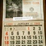 1942 promotional calendar.