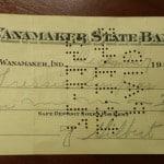Wanamaker State Bank check