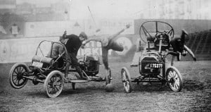 Auto Polo game in the 1910s. Photo credit: The Library of Congress