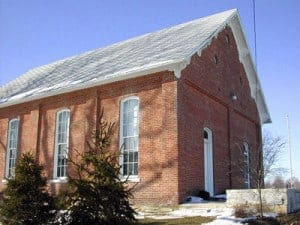 Former Big Run Baptist Church, now FTHS Meeting House, built 1871.