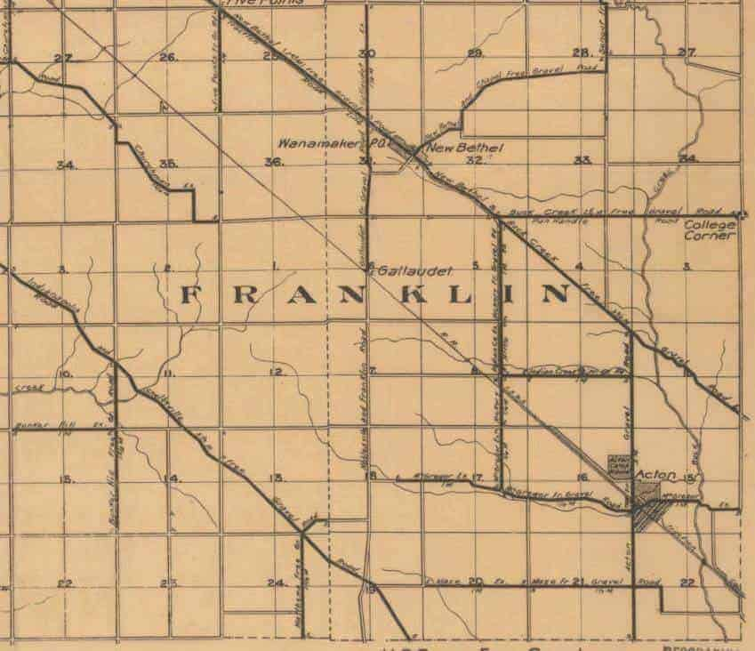 Franklin Township map, 1905