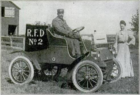 Rural Free Delivery vehicle (from Popular Mechanics, September 1905). Image credit: Wikipedia.